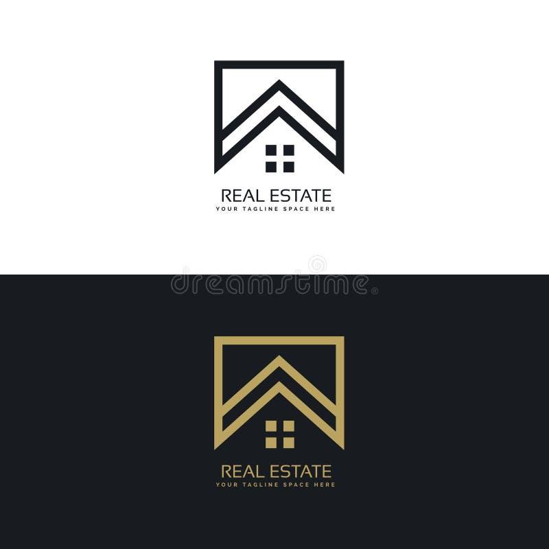 Σχέδιο λογότυπων σπιτιών στο δημιουργικό ύφος γραμμών διανυσματική απεικόνιση