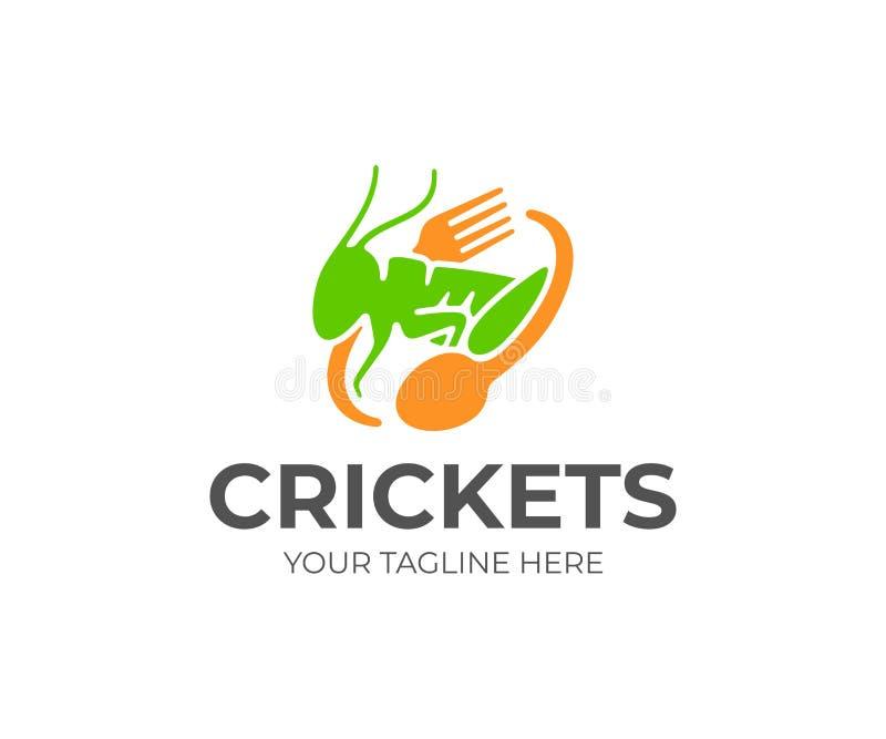 Σχέδιο λογότυπων τροφίμων γρύλων Γρύλος που καλλιεργεί το διανυσματικό σχέδιο ελεύθερη απεικόνιση δικαιώματος