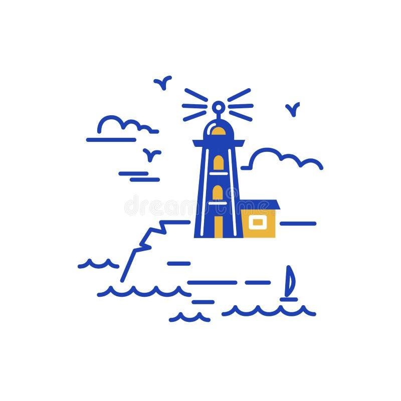 Σχέδιο λογότυπων φάρων διανυσματική απεικόνιση