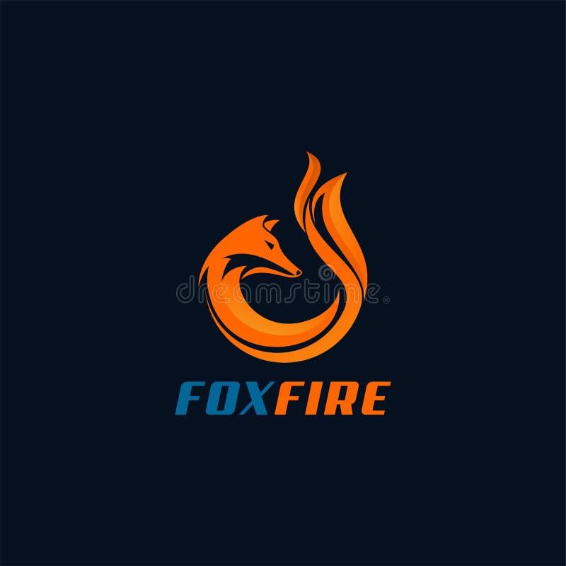 Σχέδιο λογότυπων Foxfire διανυσματική απεικόνιση