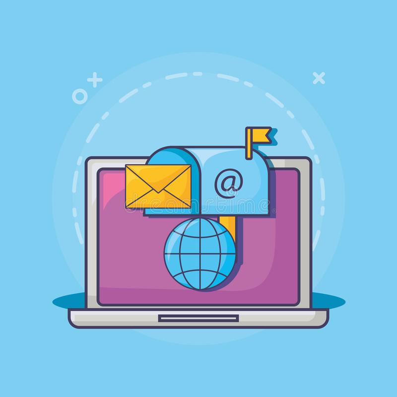 Σχέδιο μάρκετινγκ ηλεκτρονικού ταχυδρομείου απεικόνιση αποθεμάτων