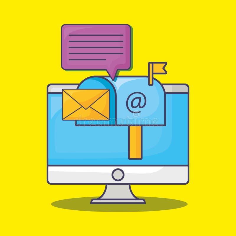 Σχέδιο μάρκετινγκ ηλεκτρονικού ταχυδρομείου διανυσματική απεικόνιση