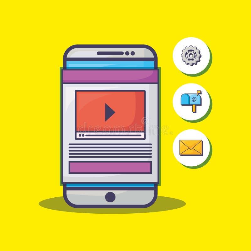 Σχέδιο μάρκετινγκ ηλεκτρονικού ταχυδρομείου ελεύθερη απεικόνιση δικαιώματος