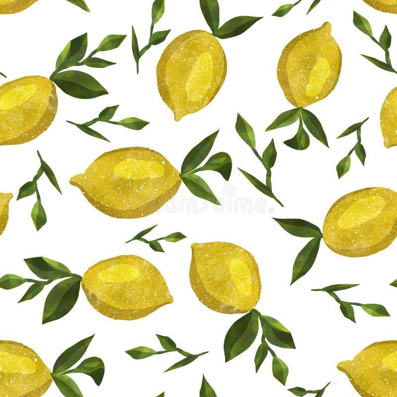 Σχέδιο με τα λεμόνια watercolor στοκ φωτογραφία με δικαίωμα ελεύθερης χρήσης