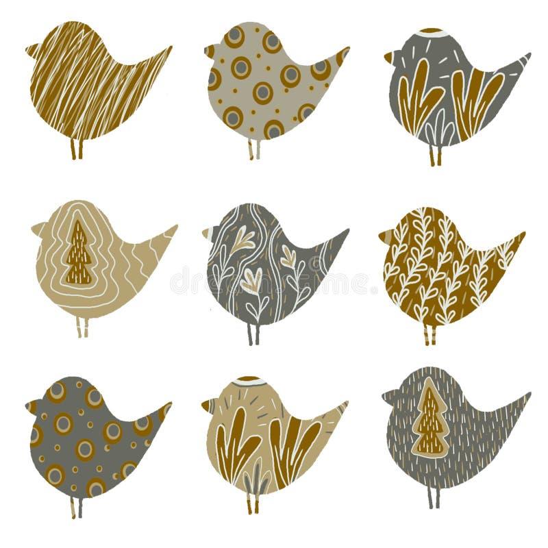 Σχέδιο με τα πουλιά ελεύθερη απεικόνιση δικαιώματος