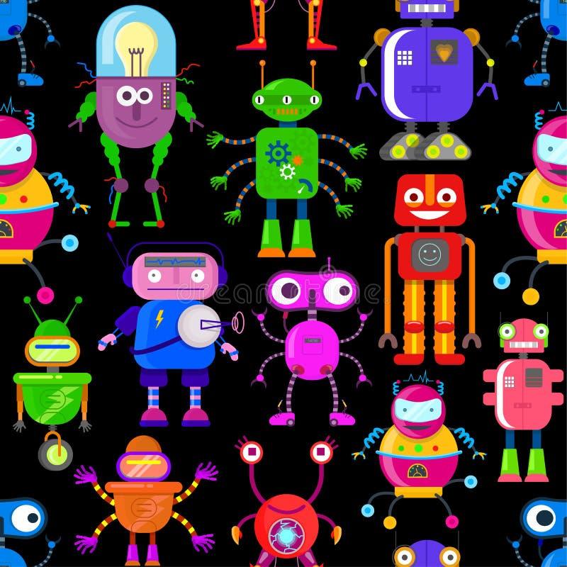 Σχέδιο με τα ρομπότ απεικόνιση αποθεμάτων