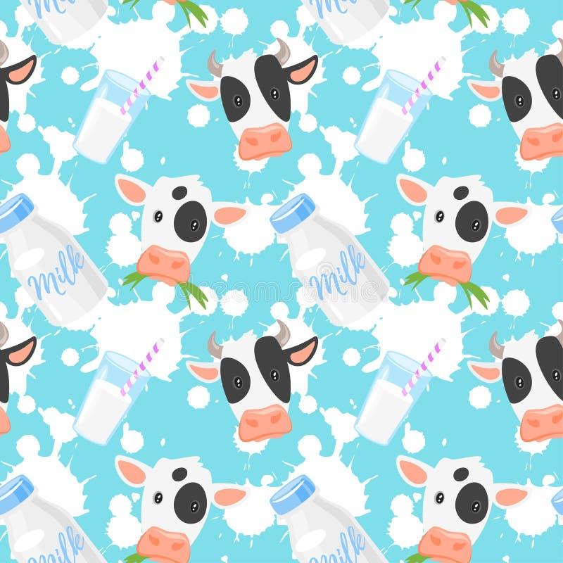 Σχέδιο με τις αγελάδες διανυσματική απεικόνιση