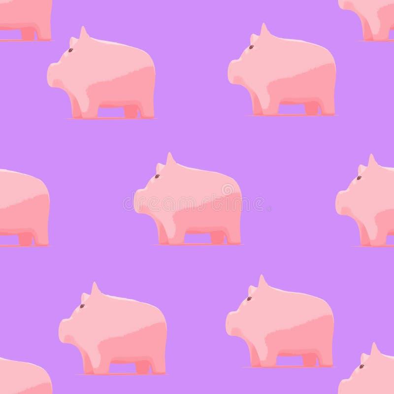 Σχέδιο με piggy για το ύφασμα μωρών ελεύθερη απεικόνιση δικαιώματος