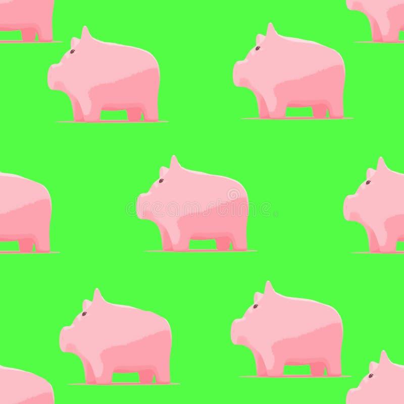 Σχέδιο με piggy για το ύφασμα μωρών απεικόνιση αποθεμάτων