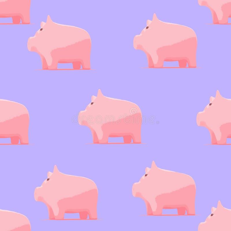 Σχέδιο με piggy για το ύφασμα μωρών διανυσματική απεικόνιση