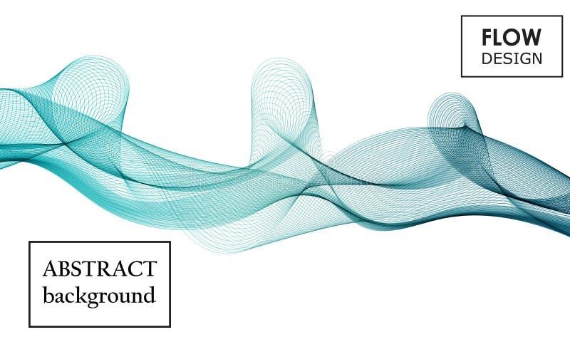 Σχέδιο μορφών ροής Υγρό υπόβαθρο κυμάτων Αφηρημένη τρισδιάστατη μορφή ροής 10 eps διανυσματική απεικόνιση