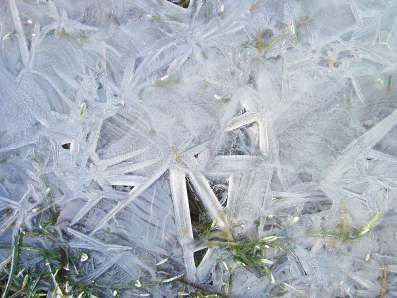 Σχέδιο πάγου στον τομέα το χειμώνα στοκ φωτογραφία