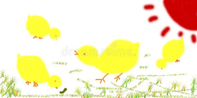 σχέδιο παιδιών κοτόπουλων στοκ φωτογραφία με δικαίωμα ελεύθερης χρήσης