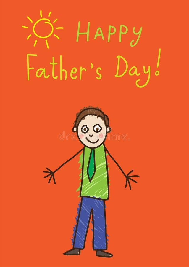 Σχέδιο παιδιών ` s πατέρας s ημέρας διανυσματική απεικόνιση