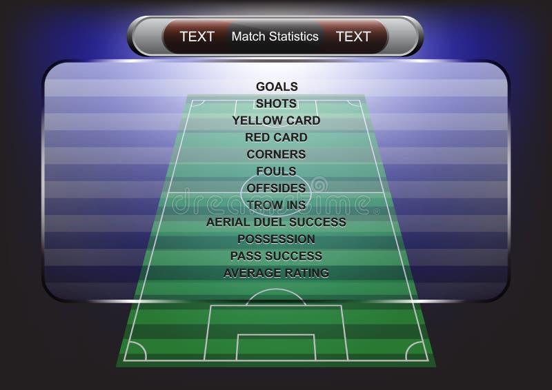 Σχέδιο ποδοσφαίρου πινάκων βαθμολογίας , Στοιχείο αθλητικών κουμπιών, εμβλήματα για το foo ελεύθερη απεικόνιση δικαιώματος