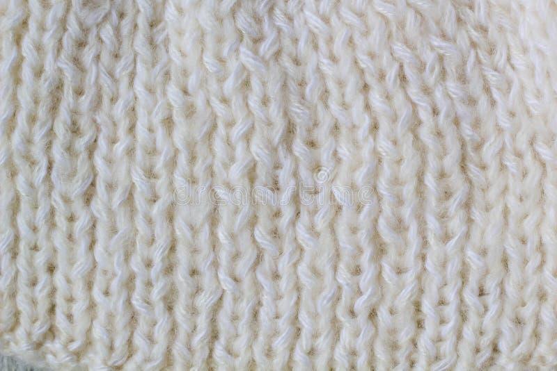 Σχέδιο πουλόβερ ή μαντίλι του άσπρου πλεκτού υποβάθρου σύστασης υφάσματος στοκ εικόνες με δικαίωμα ελεύθερης χρήσης
