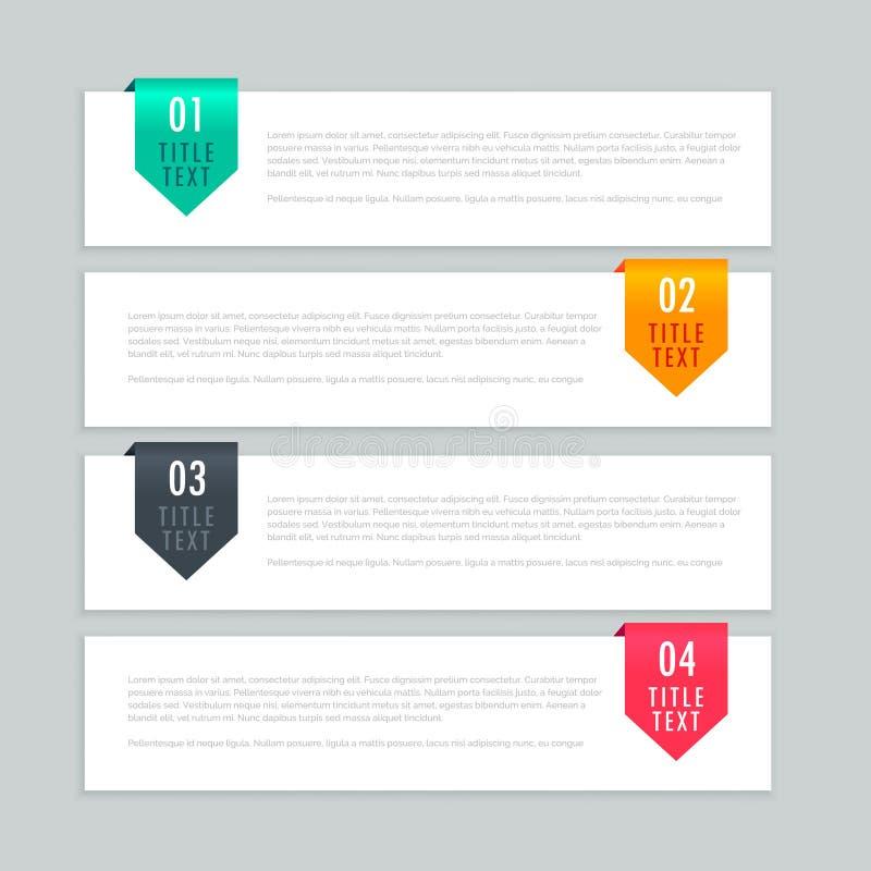 Σχέδιο προτύπων βημάτων Infographic ελεύθερη απεικόνιση δικαιώματος