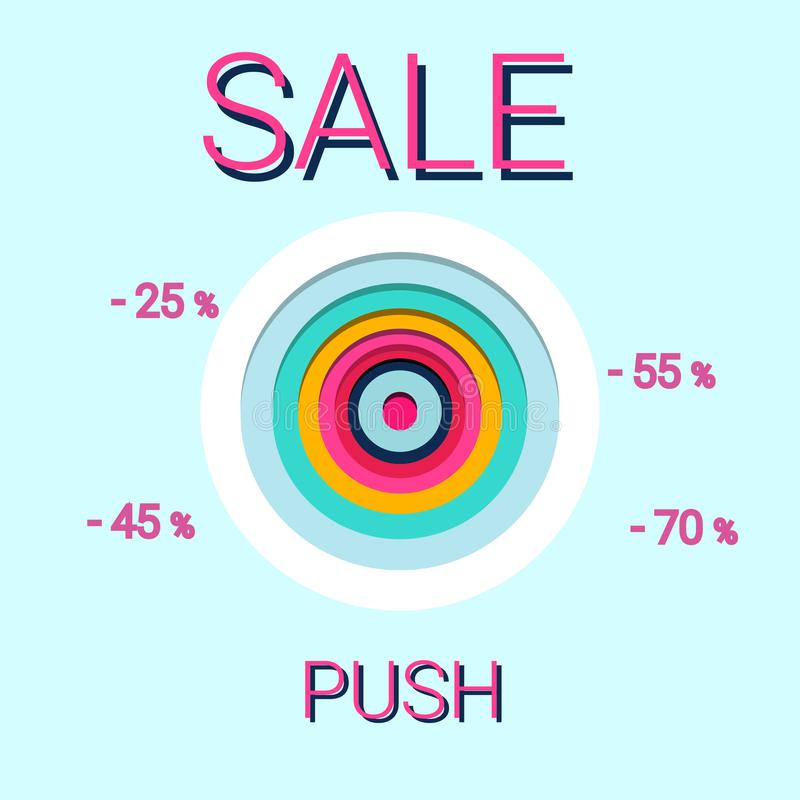 Σχέδιο προτύπων εμβλημάτων πώλησης διανυσματική απεικόνιση