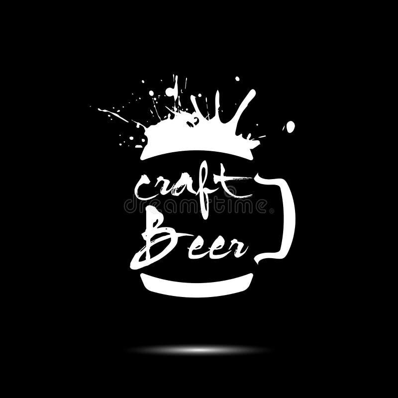 Σχέδιο προτύπων λογότυπων τεχνών μπύρας ελεύθερη απεικόνιση δικαιώματος