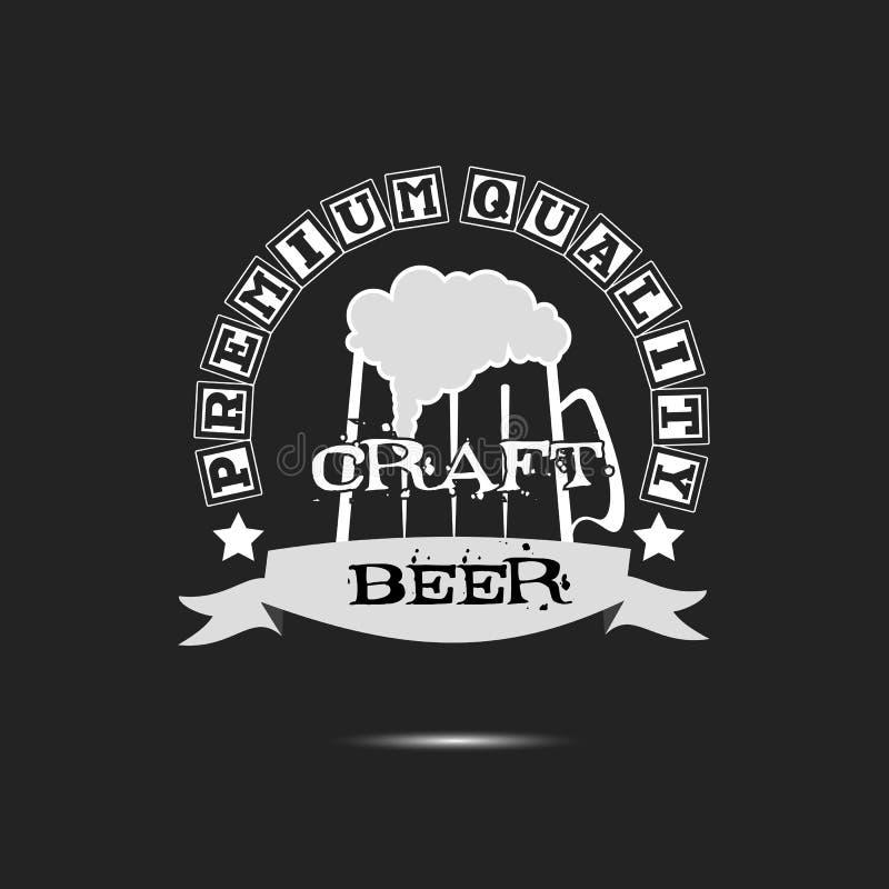 Σχέδιο προτύπων λογότυπων τεχνών μπύρας διανυσματική απεικόνιση