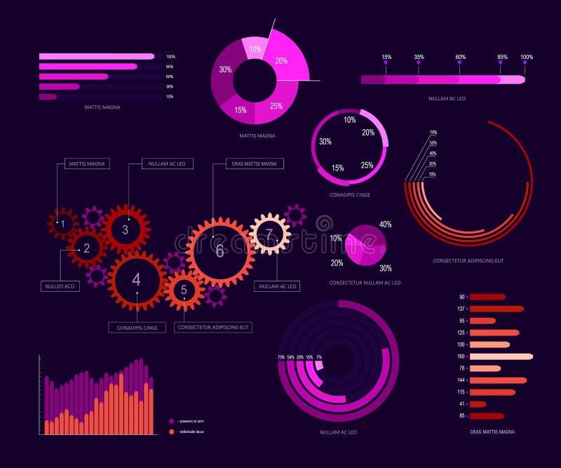 Σχέδιο 1 προτύπων Infographic ελεύθερη απεικόνιση δικαιώματος