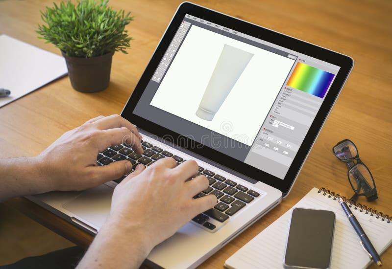 σχέδιο προϊόντων υπολογιστών γραφείου υπολογιστών στοκ εικόνα