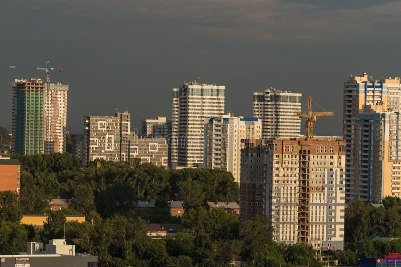 Σχέδιο πόλεων Αρχιτεκτονική εμφάνιση της σύγχρονης Ρωσίας στοκ φωτογραφίες με δικαίωμα ελεύθερης χρήσης