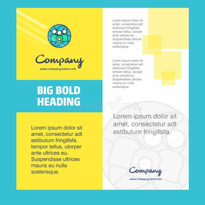 Σχέδιο σελίδων τίτλου φυλλάδιων ομάδας avatar Company Σχεδιάγραμμα επιχείρησης, ετήσια έκθεση, παρουσιάσεις, διανυσματικό υπόβαθρ διανυσματική απεικόνιση