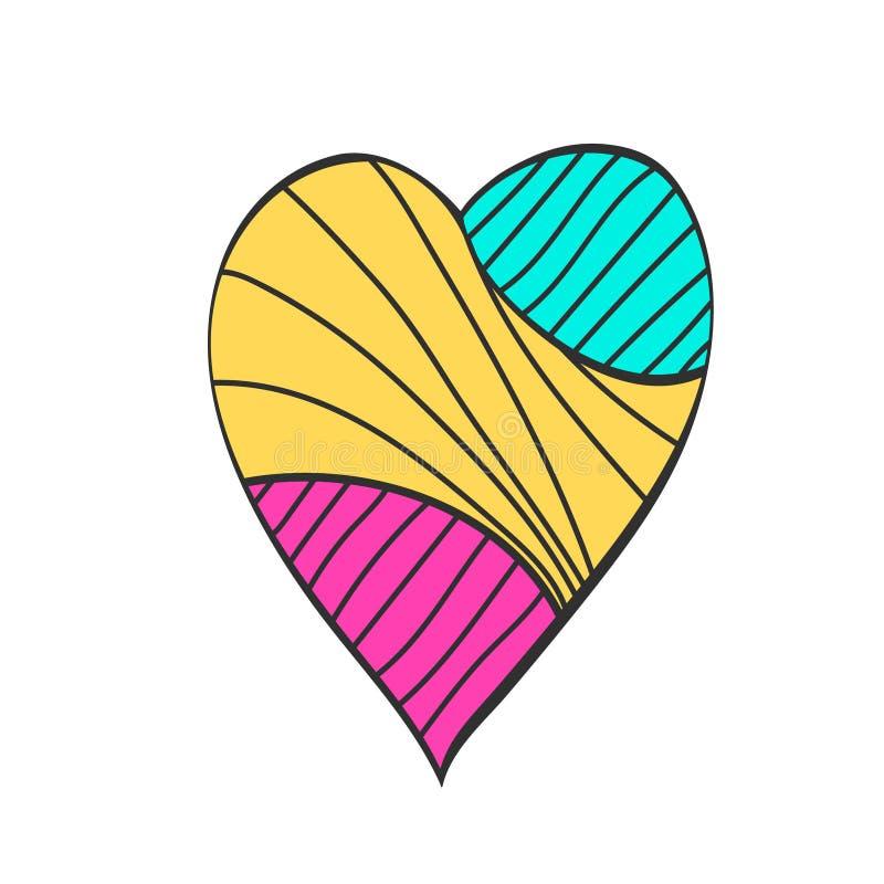 Σχέδιο σκίτσων καρδιών Χαριτωμένη απεικόνιση για την ημέρα βαλεντίνων ελεύθερη απεικόνιση δικαιώματος