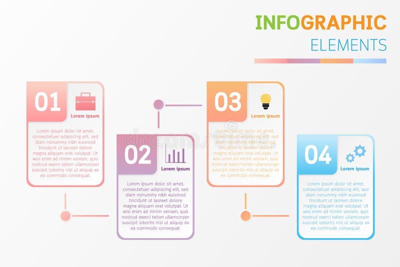 Σχέδιο στοιχείων Infographic με τα εικονίδια, αριθμός, κείμενο ελεύθερη απεικόνιση δικαιώματος