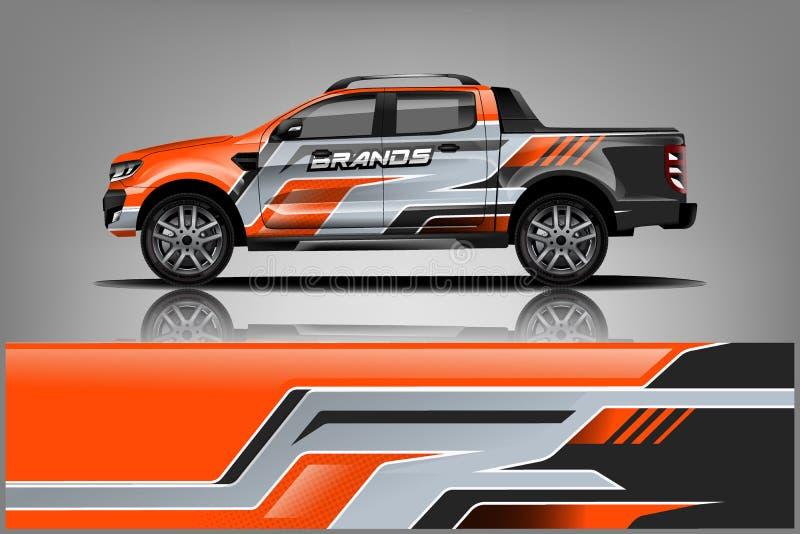 Σχέδιο στολών περικαλυμμάτων φορτηγών Έτοιμο σχέδιο περικαλυμμάτων τυπωμένων υλών για το φορτηγό o απεικόνιση αποθεμάτων