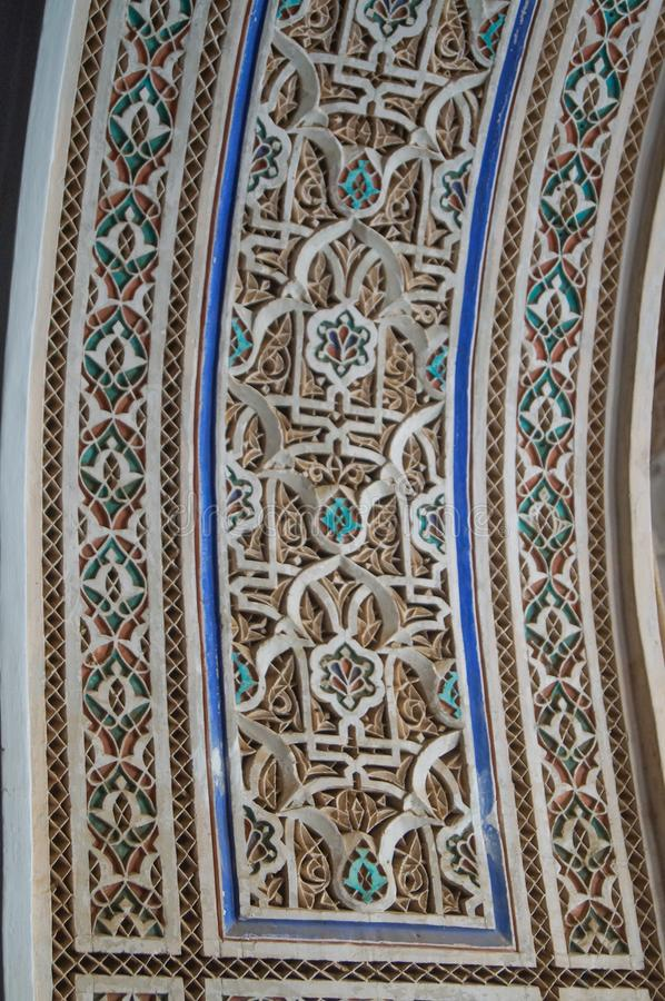 Σχέδιο στο μαροκινό υπόβαθρο διακοσμήσεων ύφους ισλαμικό παραδοσιακό στοκ εικόνα