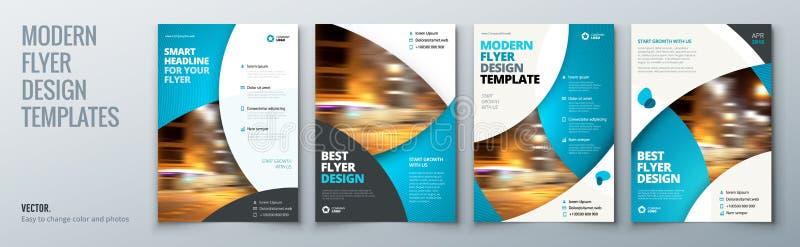 Σχέδιο σχεδιαγράμματος προτύπων ιπτάμενων Πρότυπο επιχειρησιακών ιπτάμενων, φυλλάδιων, περιοδικών ή ιπτάμενων στα φωτεινά χρώματα ελεύθερη απεικόνιση δικαιώματος