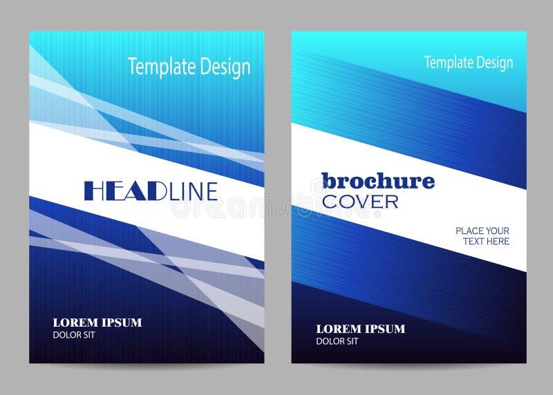 Σχέδιο σχεδιαγράμματος προτύπων φυλλάδιων Αφηρημένο μπλε και άσπρο ριγωτό υπόβαθρο ελεύθερη απεικόνιση δικαιώματος