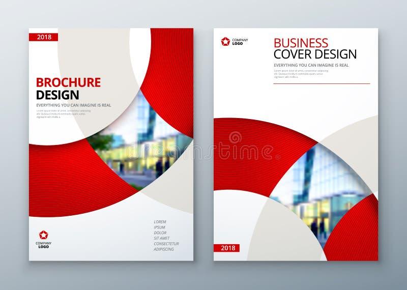 Σχέδιο σχεδιαγράμματος προτύπων φυλλάδιων Εταιρική επιχειρησιακή ετήσια έκθεση, κατάλογος, περιοδικό, πρότυπο ιπτάμενων Δημιουργι ελεύθερη απεικόνιση δικαιώματος