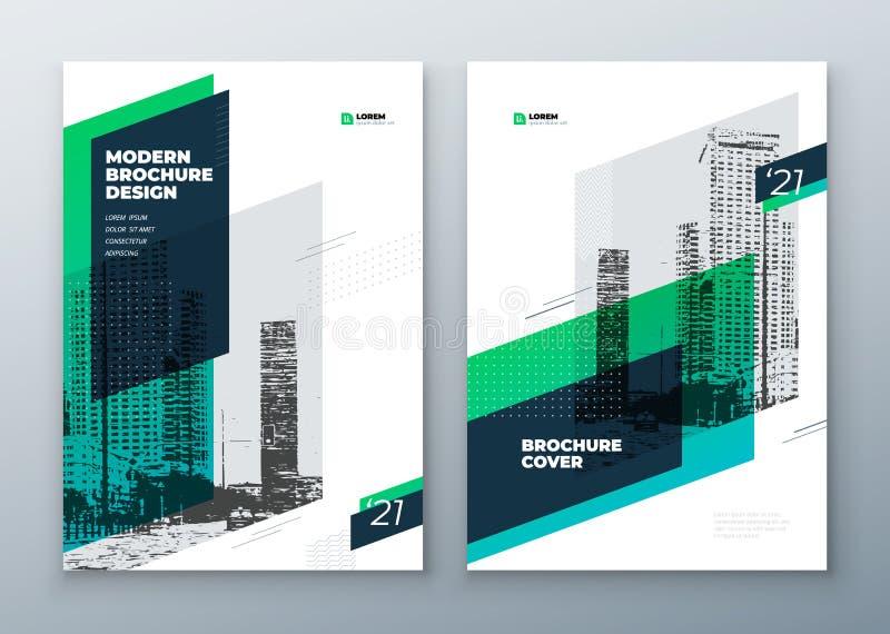 Σχέδιο σχεδιαγράμματος προτύπων φυλλάδιων Εταιρική επιχειρησιακή ετήσια έκθεση, κατάλογος, περιοδικό, φυλλάδιο, πρότυπο ιπτάμενων ελεύθερη απεικόνιση δικαιώματος