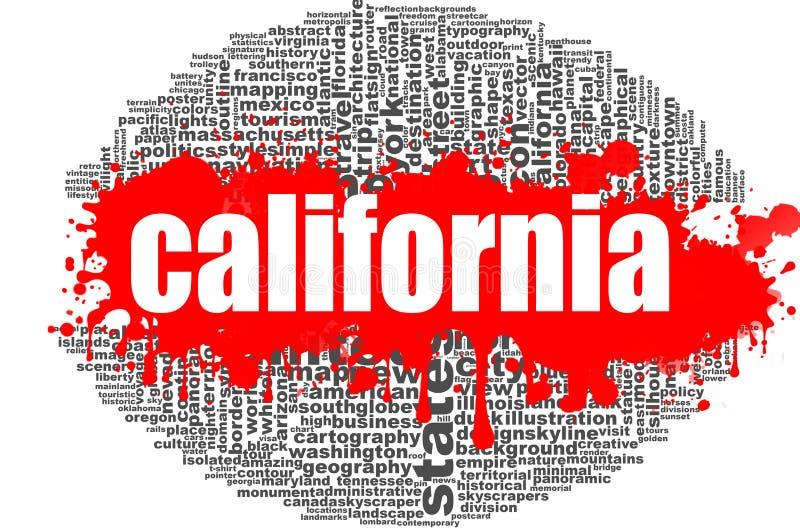 Σχέδιο σύννεφων λέξης Καλιφόρνιας απεικόνιση αποθεμάτων