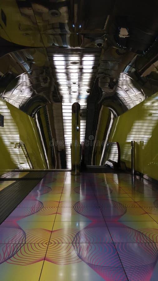 Σχέδιο τέχνης στο σταθμό Νάπολη μετρό στοκ φωτογραφίες