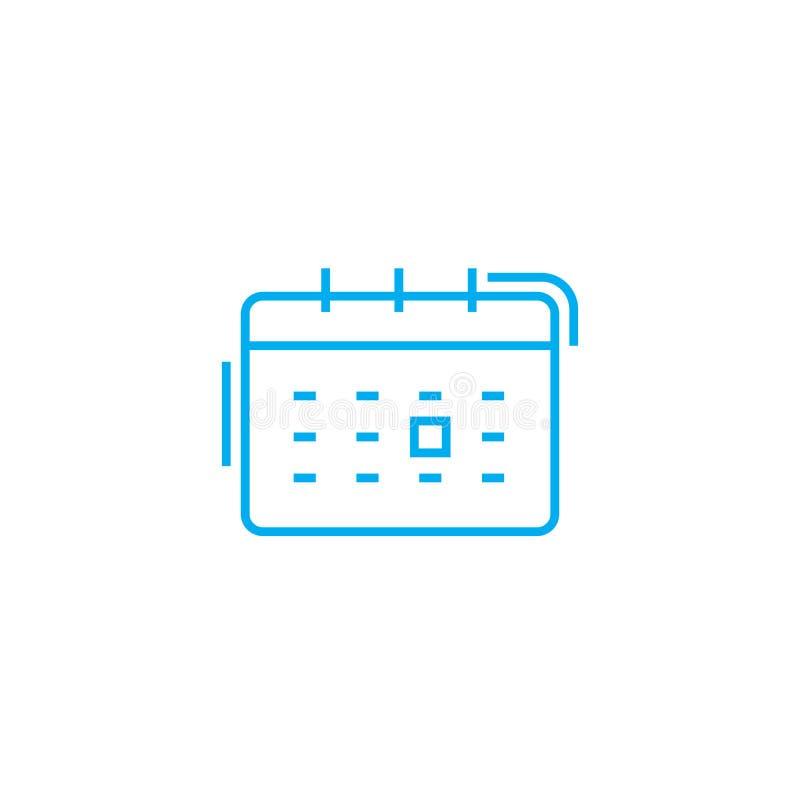 Σχέδιο της γραμμικής έννοιας εικονιδίων γεγονότων Σχέδιο του διανυσματικού σημαδιού γραμμών γεγονότων, σύμβολο, απεικόνιση απεικόνιση αποθεμάτων