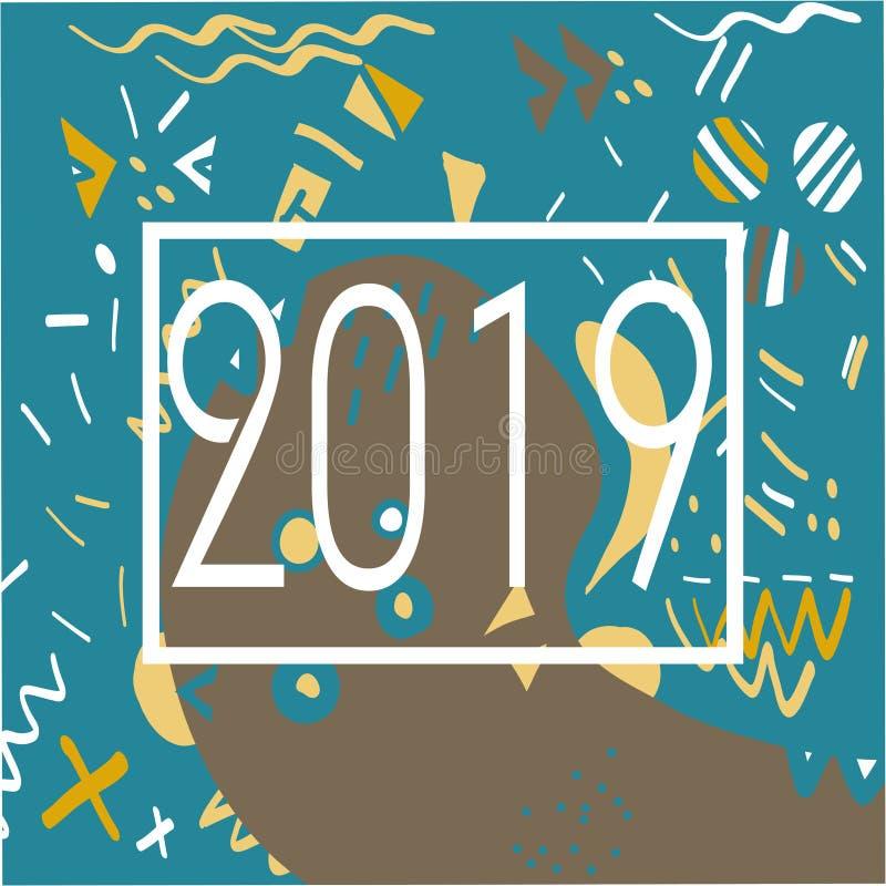 σχέδιο της Μέμφιδας έτους του 2019 των γεωμετρικών μορφών για τον ιστό και τις κάρτες απεικόνιση αποθεμάτων