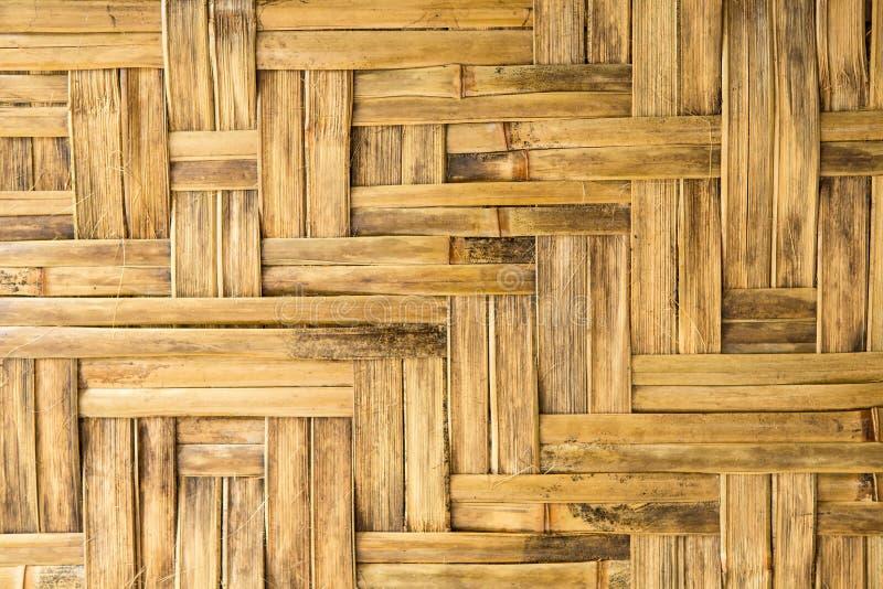 Σχέδιο της παλαιάς εκλεκτής ποιότητας ξύλινης επιτροπής μπαμπού που χρησιμοποιεί ως υπόβαθρο στοκ φωτογραφίες