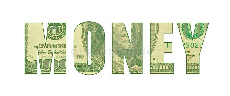 Σχέδιο του νομίσματος στις επιστολές που συλλαβίζουν τα ΧΡΗΜΑΤΑ διανυσματική απεικόνιση