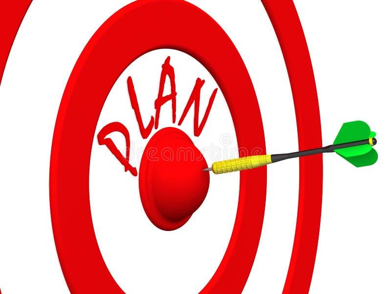 Σχέδιο Το βέλος στο κέντρο στόχων διανυσματική απεικόνιση
