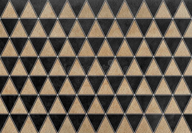 Σχέδιο τριγώνων Watercolor απεικόνιση αποθεμάτων