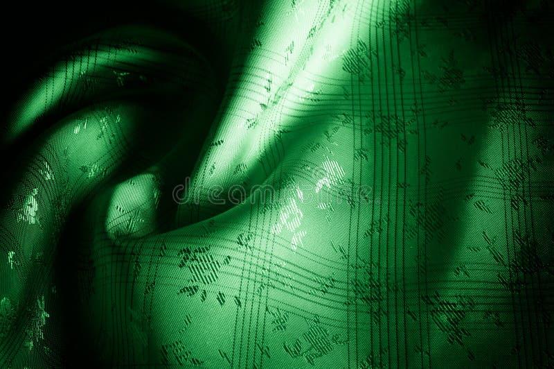 Σχέδιο υποβάθρου σύστασης Το ύφασμα μεταξιού είναι πράσινο, όμορφο Gree στοκ φωτογραφίες
