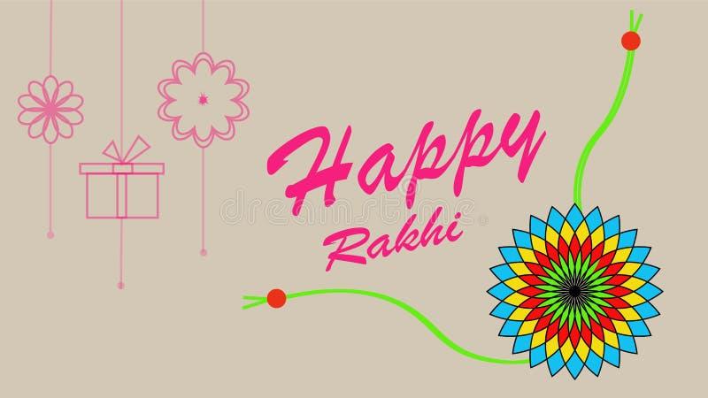 Σχέδιο υποβάθρου φεστιβάλ Rakhi με τη δημιουργική απεικόνιση Rakhi ελεύθερη απεικόνιση δικαιώματος
