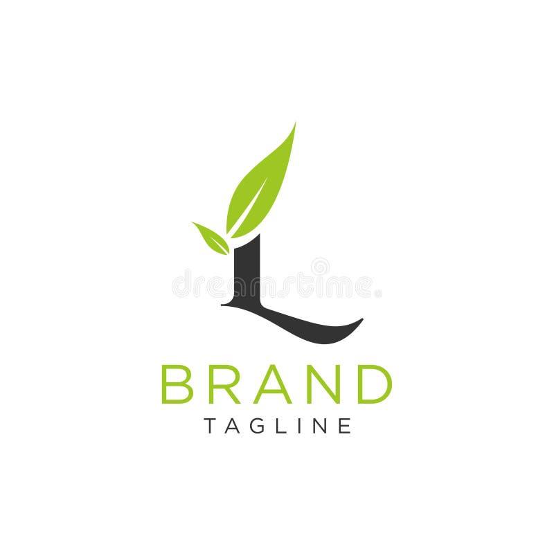 Σχέδιο φύσης λογότυπων επιστολών ή αλφάβητο αρχικών Απλό μινιμαλιστικό ύφος απεικόνιση αποθεμάτων