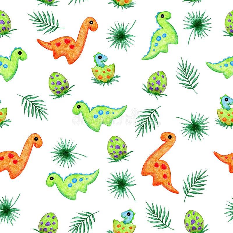 Σχέδιο χεριών κινούμενων σχεδίων δεινοσαύρων ελεύθερη απεικόνιση δικαιώματος