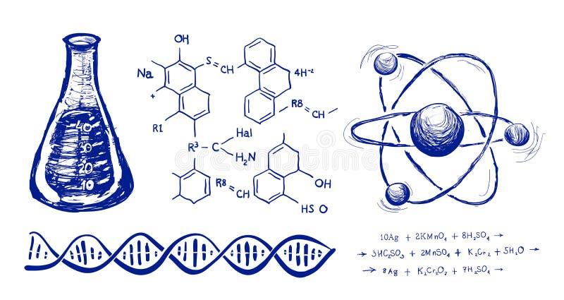 Σχέδιο χεριών χημείας απεικόνιση αποθεμάτων