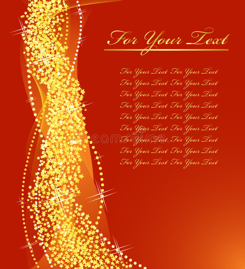 σχέδιο Χριστουγέννων χρυσό διανυσματική απεικόνιση